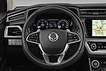 Car pictures of steering wheel view of a 2020 Ssangyong Korando Onyx 5 Door SUV Steering Wheel