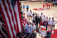 STANFORD, CA - November 15, 2017: Team at Maples Pavilion. The Stanford Cardinal defeated USC 3-0 to claim the Pac-12 conference title.