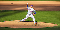 20 April 2013: New York Mets pitcher Brandon Lyon on the mound against the Washington Nationals at Citi Field in Flushing, NY. The Mets fell to the visiting Nationals 7-6, tying their 3-game weekend series at one a piece. Mandatory Credit: Ed Wolfstein Photo *** RAW (NEF) Image File Available ***