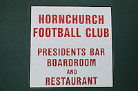 A sign on the Bar and Restaurant area at the Hornchurch Stadium - AFC Hornchurch vs Wingate & Finchley - Ryman League Premier Division Football at Hornchurch Stadium, Bridge Avenue, Upminster, Essex - 30/11/13 - MANDATORY CREDIT: Gavin Ellis/TGSPHOTO - Self billing applies where appropriate - 0845 094 6026 - contact@tgsphoto.co.uk - NO UNPAID USE