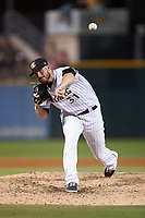 Charlotte Knights relief pitcher Nik Turley (31) in action against the Nashville Sounds at Truist Field on June 4, 2021 in Charlotte, North Carolina. (Brian Westerholt/Four Seam Images)