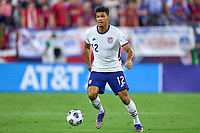 5th September 2021; Nashville, TN, USA;  United States defender Miles Robinson on the ball during a CONCACAF World Cup qualifying match between the United States and Canada on September 5, 2021 at Nissan Stadium in Nashville, TN.