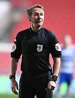 16th February 2021; Ashton Gate Stadium, Bristol, England; English Football League Championship Football, Bristol City versus Reading; Referee Oliver Langford