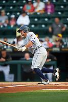 Lakeland Flying Tigers center fielder Ross Kivett (7) at bat during a game against the Bradenton Marauders on April 16, 2016 at McKechnie Field in Bradenton, Florida.  Lakeland defeated Bradenton 7-4.  (Mike Janes/Four Seam Images)