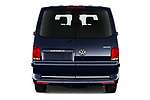 Straight rear view of 2020 Volkswagen Caravelle Highline 5 Door Passenger Van Rear View  stock images