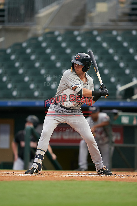 Lakeland Flying Tigers Kody Clemens (8) at bat during a Florida State League game against the Jupiter Hammerheads on August 12, 2019 at Roger Dean Chevrolet Stadium in Jupiter, Florida.  Jupiter defeated Lakeland 9-3.  (Mike Janes/Four Seam Images)