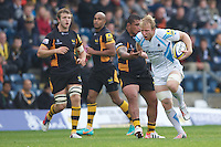 Matt Kvesic of Worcester Warriors drives forward during the Aviva Premiership match between London Wasps and Worcester Warriors at Adams Park on Sunday 7th October 2012 (Photo by Rob Munro)