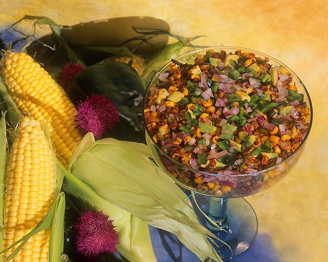 Smoked Corn & Avocado Salsa