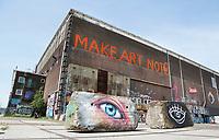 Nederland Amsterdam 2017. De Lasloods op het NDSM Terrein.  In 2018 opent in de Lasloods het grootste street art museum ter wereld. Foto Berlinda van Dam / Hollandse Hoogte