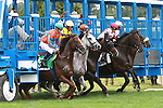 """Air Support with John Velazquez aboard win the 54th running of the Grade 2 Bowling Green Handicap for 3-year olds going 1 1/4 mile on the turf.  Trainer Claude """"Shug"""" McGaughey III. Owner Stuart S. Janney, III"""
