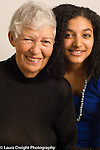family portrait grandmother with 19 year old grandaughter horizontal
