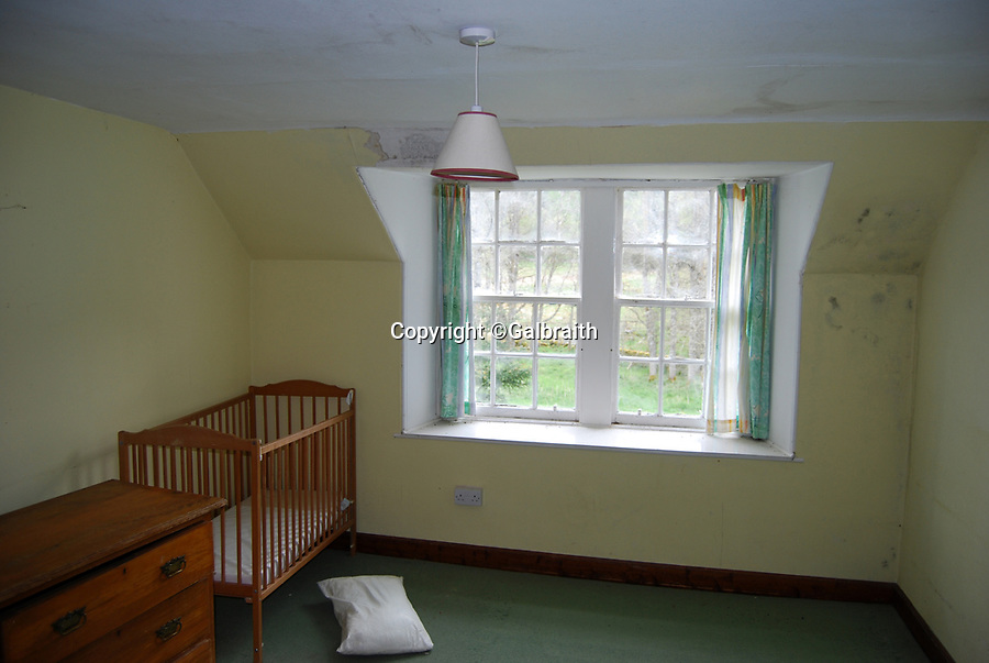 BNPS.co.uk (01202 558833)<br /> Pic:  Galbraith/BNPS<br /> <br /> A bit of work needed on the interior....<br /> <br /> A stunning Scottish retreat with its own private loch has emerged on the market for just £250,000 - less than a tiny London studio flat.<br /> <br /> Loch Cottage, north west of the village of Kirkmichael in Perthshire, has 65 acres of pasture and woodland.<br /> <br /> It is metres from the Cateran Trail, one of the country's great walking and mountain biking trails.<br /> <br /> And the property has fishing rights for the nearby River Ardle, which is home to brown trout and salmon.