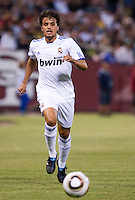 Pedro Leon chases down the ball. Real Madrid defeated Club America 3-2 at Candlestick Park in San Francisco, California on August 4th, 2010.