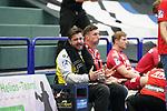 07.10.2020, Klingenhalle, Solingen,  GER, 1. HBL. Herren, Bergischer HC vs. HC Erlangen, <br /> <br /> im Bild / picture shows: <br /> Martin Ziemer Torwart (HC Erlangen #1),  regt sich heftig auf, Gestik, Mimik, unzufrieden / enttaeuscht / niedergeschlagen / frustriert, <br /> <br /> <br /> Foto © nordphoto / Meuter *** Local Caption ***