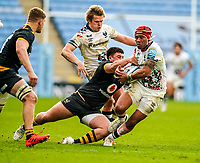 22nd November 2020; Ricoh Arena, Coventry, West Midlands, England; English Premiership Rugby, Wasps versus Bristol Bears; Siale Piutau of Bristol keeps the ball safe in the tackle