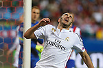 Real Madrid´s Karim Benzema reacts during quarterfinal first leg Champions League soccer match at Vicente Calderon stadium in Madrid, Spain. April 14, 2015. (ALTERPHOTOS/Victor Blanco)