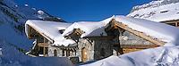 Europe/France/73/Savoie/Val d Isere: détail de chalet quartier de la Legettaz
