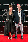 """Manuela Velasco and Jaume Balaguero attend the Premiere of the movie """"REC 4"""" at Palafox Cinema in Madrid, Spain. October 27, 2014. (ALTERPHOTOS/Carlos Dafonte)"""