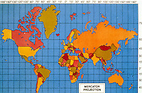 Scinece:  World Map--Mercator Projection.