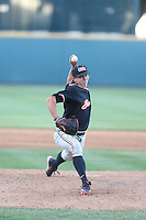 Luke Heimlich (15) of the Oregon State Beavers pitches during a game against the UCLA Bruins at Jackie Robinson Stadium on April 4, 2015 in Los Angeles, California. UCLA defeated Oregon State, 10-5. (Larry Goren/Four Seam Images)