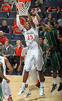 CHARLOTTESVILLE, VA- NOVEMBER 26:  Akil Mitchell #25 of the Virginia Cavaliers v during the game on November 26, 2011 at the John Paul Jones Arena in Charlottesville, Virginia. Virginia defeated Green Bay 68-42. (Photo by Andrew Shurtleff/Getty Images) *** Local Caption *** Akil Mitchell