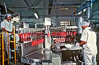 Industria de alimentos, fabrica de sorvetes Yopa. Sao Paulo. 1996. Foto de Juca Martins.