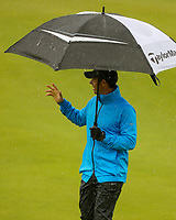 170719 | The 148th Open - Wednesday Practice<br /> <br /> Rory McIlroy of Northern Ireland on the 18th during practice for the 148th Open Championship at Royal Portrush Golf Club, County Antrim, Northern Ireland. Photo by John Dickson - DICKSONDIGITAL