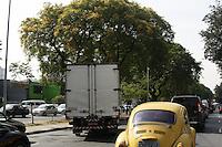 ATENCAO EDITOR: FOTO EMBARGADA PARA VEICULOS INTERNACIONAIS - SAO PAULO, SP, 04 DE OUTUBRO 2012 - TRANSITO SP - Quinta-feira, 04, tem lentidão na av Avenida Rudge sentido Av Rio Branco, Centro da Capital Paulista - FOTO LOLA OLIVEIRA - BRAZIL PHOTO PRESS