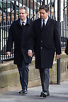 © Joel Goodman - 07973 332324 . 16/01/2014 . Salford , UK . ED MILIBAND MP , the leader of the Labour Party and MP for Doncaster North , arrives for the funeral . The funeral of Labour MP Paul Goggins at Salford Cathedral today (Thursday 16th January 2014) . The MP for Wythenshawe and Sale East died aged 60 on 7th January 2014 after collapsing whilst out running on 30th December 2013 . Photo credit : Joel Goodman