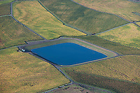 aerial photograph water reservoir for Petaluma vineyards Sonoma County, California