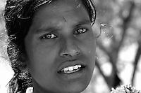 A women on the road near Bollywood,The faces of Mumbai, India