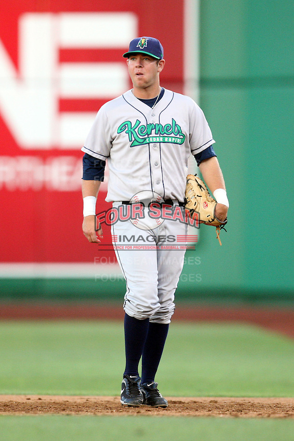 Cedar Rapids Kernels Casey Haerther during the Midwest League All Star Game at Parkview Field in Fort Wayne, IN. June 22, 2010. Photo By Chris Proctor/Four Seam Images