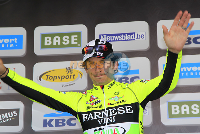Filippo Pozzato Farnese Vini-Selle Italia takes 2nd place at the end of the 96th edition of The Tour of Flanders 2012 , running 256.9km from Bruges to Oudenaarde, Belgium. 1st April 2012. <br /> (Photo by Eoin Clarke/NEWSFILE).