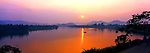 Vietnam Panorama - Sunset over Perfume River in Hue, Vietnam.<br /> <br /> Image taken on large format panoramic 6cm x 17cm transparency. Available for licencing and printing. email us at contact@widescenes.com for pricing.