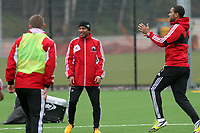 Pictured: Jonathan De Guzman who is poised to make his stay at the Liberty permanent in training today<br /> Swansea City Football Training, Swansea, 07/03/13