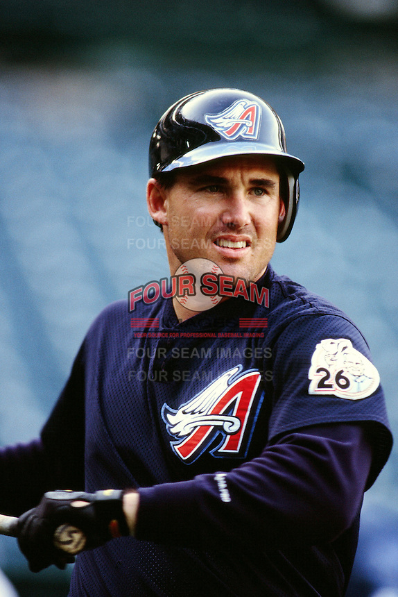Tim Salmon of the Anaheim Angels during a game circa 1999 at Angel Stadium in Anaheim, California. (Larry Goren/Four Seam Images)