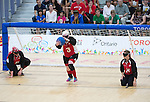 Whitney Bogart, Toronto 2015 - Goalball.<br /> Canada's women's Goalball team plays in the bronze medal game // L'équipe féminine de goalball du Canada participe au match pour la médaille de bronze. 14/08/2015.
