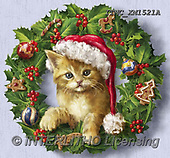Marcello, CHRISTMAS ANIMALS, WEIHNACHTEN TIERE, NAVIDAD ANIMALES, paintings+++++,ITMCXM1521A,#XA# ,Christmas wreath