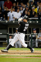 August 7, 2009:  Designated Hitter Jim Thome (25) of the Chicago White Sox at bat during a game vs. the Cleveland Indians at U.S. Cellular Field in Chicago, IL.  The Indians defeated the White Sox 6-2.  Photo By Mike Janes/Four Seam Images