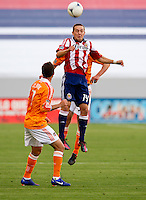 CARSON, CA - March 11, 2012: Chivas USA forward Casey Townsend (14) during the Chivas USA vs Houston Dynamo match at the Home Depot Center in Carson, California. Final score Houston Dynamo 1, Chivas USA 0.