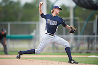 GCL Rays starting pitcher Easton McGee (30) during the second game of a doubleheader against the GCL Red Sox on August 9, 2016 at JetBlue Park in Fort Myers, Florida.  GCL Rays defeated GCL Red Sox 9-1.  (Mike Janes/Four Seam Images)
