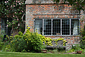 South End of Vann House, Surrey, mid June. Built by John Childe, the then owner and mayor of Guildford, in the late 17th century. The climbing rose is Rosa 'Meg'.