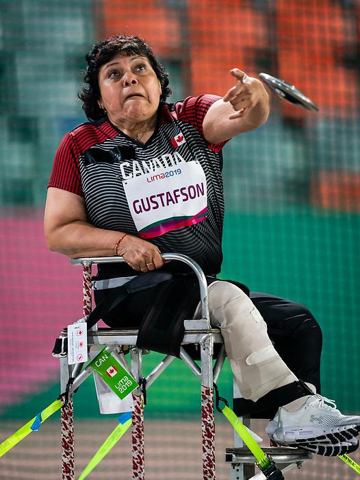 Martha Gustafson, Lima 2019 - Para Athletics // Para-athlétisme.<br /> Martha Gustafson competes in the women's discus throw F53 // Martha Gustafson participe au lancer du disque féminin F53. 24/08/2019.