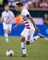 PHILADELPHIA, PA - JUNE 30: Christian Pulisic #10 attack during a game between Curaçao and USMNT at Lincoln Financial Field on June 30, 2019 in Philadelphia, Pennsylvania.