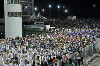 SÃO PAULO, SP, 28 DE JANEIRO DE 2012 - ENSAIO TÉCNICO VILA MARIA - Ensaio técnico da Escola de Samba Unidos de Vila Maria na praparação para o Carnaval 2012. O ensaio foi realizado na noite deste sabado no Sambódromo do Anhembi, zona norte da cidade. FOTO: LEVI BIANCO - NEWS FREE