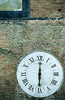 Clock on the tower of the Cathedral of Siena, Italy.