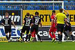Rechts Waldhofs Jan Just (Nr.22) bei seinem Treffer beim Spiel in der 3. Liga, SV Waldhof Mannheim - Türgücü München.<br /> <br /> Foto © PIX-Sportfotos *** Foto ist honorarpflichtig! *** Auf Anfrage in hoeherer Qualitaet/Aufloesung. Belegexemplar erbeten. Veroeffentlichung ausschliesslich fuer journalistisch-publizistische Zwecke. For editorial use only. DFL regulations prohibit any use of photographs as image sequences and/or quasi-video.