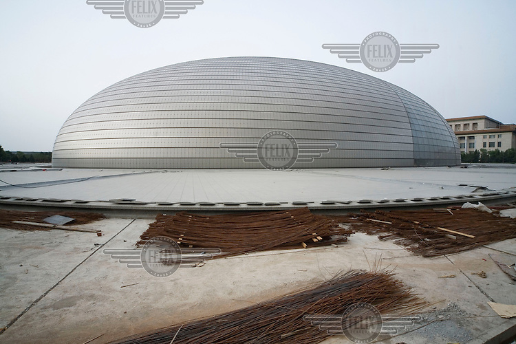 The construction of Beijing's new National Theatre.