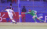 SAN PEDRO SULA, HONDURAS - SEPTEMBER 8: Matt Turner #1 GK of the United States reaches for a loose ball in the box during a game between Honduras and USMNT at Estadio Olímpico Metropolitano on September 8, 2021 in San Pedro Sula, Honduras.