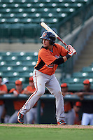 Baltimore Orioles Alejandro Juvier (3) during an instructional league game against the Minnesota Twins on September 22, 2015 at Ed Smith Stadium in Sarasota, Florida.  (Mike Janes/Four Seam Images)